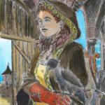 Etude de personnage pour une BD, au marqueur et aquarelle