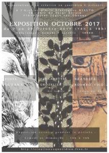 Affiche de l'exposition d'octobre 2017