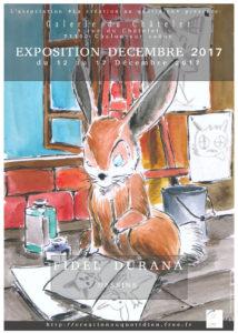 Affiche de l'exposition de Fidel Durana, du 12 u 17 Décembre 2017 à Chalon sur saone