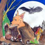 Une chauve souris qui sirote son maté, le soir venu.