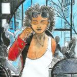Lilly (dessin à l'encre et aquarelle)