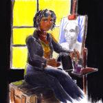 Stephanie qui peint