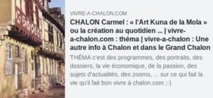 L'art Kuna de la mola ou la Création au quotidien - exposition au Carmel de Chalon sur Saone.
