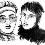 Chicas de carnet (dessin à l'encre)