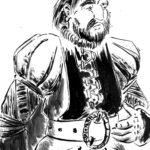Gustavo en noble (dessin à l'encre)