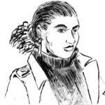 Marianna retrato (dessin à l'encre)
