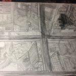 Crayonné de Vol de nuit: détail n°1