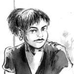 Visage de personnage à l'encre de chine: 10 sur 34