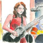Personnage de guitariste en studio