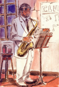 Du jazz...juste avant de commencer.