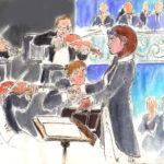 Une chef d'orchestre