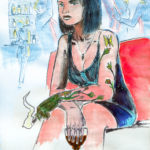 Miss Tatoo (jeune femme dans un bar).