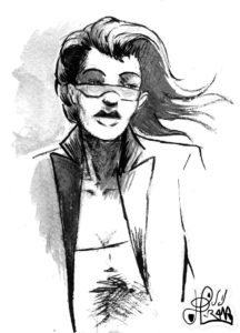 Stella (portrait à l'encre de chine)