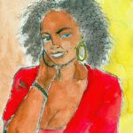 Paola (dessin au marqueur et palette graphique).