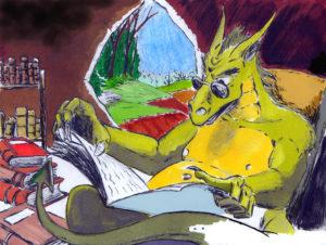 Dragon lecteur, quand lire est un trésor