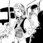 Flor dans le métro (encre de chine)