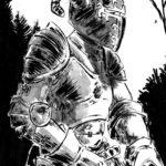 En armure (dessin à l'encre)