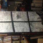 Crayonné de Vol de nuit: encrage détail n°1